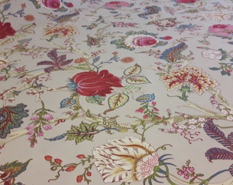 """Toile Floral fabric 110"""" wide; Ceylan print fabric"""
