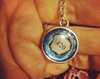 Blue 420 necklace