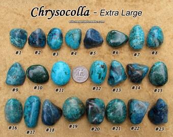 Chrysocolla (large/extra large) tumbled stone for crystal healing