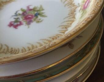 6 Vintage China Dessert/Fruit Bowls for Bridal Luncheons, Showers, Mismatched Tea Set, China Tea Set, Alice in Wonderland