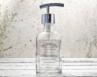 hand soap dispenser farmhouse bathroom decor paris decor bathroom accessories kitchen decor - Bathroom Accessories Decor