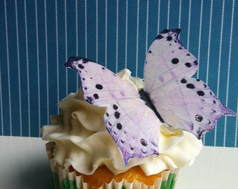EDIBLE BUTTERFLIES  - Large Light Lavender -  Cake & Cupcake toppers - Food accessories