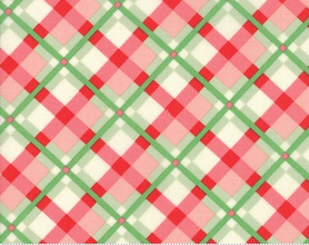 Swell Christmas by Urban Chiks for Moda, #31122-18, Green Red Plaid, Christmas Ribbon, Christmas Fabric, Christmas in July, IN STOCK