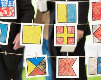 decorative paper signal flags