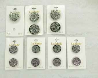 La Mode Oxidized Silver Crest