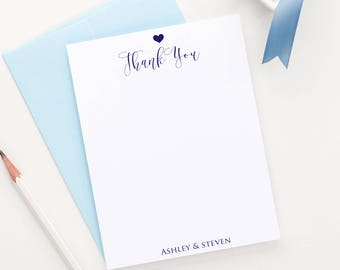 Personalized couples stationery set, Couples stationary gift set, Wedding thank you note cards, Wedding stationery gift set  WS031