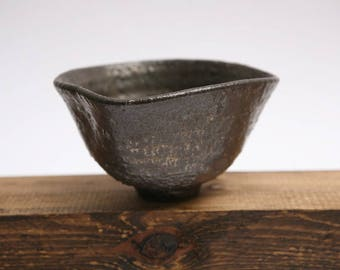 Ceramic bowl. Stoneware Bowl. Bowl of tea. Chawan.