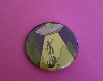 Alien UFO Abduction Just The Dog Button