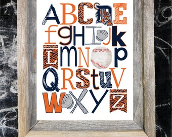 DETROIT TIGERS ABC Nursery Art print...