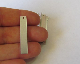 1/4 x 1 1/2  -20G - 1100 -  Aluminum rectangles -Pendant blanks - earring blanks -hand stamping blanks with hole punched