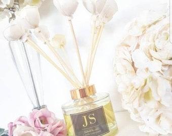 Flower reed diffuser refill bottles including new flower reeds- home fragrance