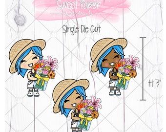 Spring Flowers Mahina Die Cut GD0012
