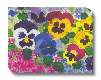 Pansies paper napkin for decoupage, mixed media, collage, scrapbooking x 1. No. 1244 Pansyfest