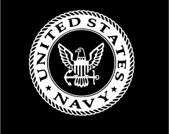 Navy Sailor car decal Military Car decal Vinyl Decal Navy car decal Navy sailor custom decal Sailor Truck Decal
