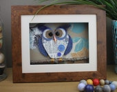 Owl Lovers Gift - Blue Wi...