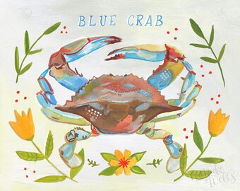 Ms. Blue Crab - Makewells Fine Art Print
