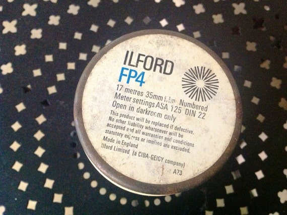 Ca 1985 17 meters of Ilford FP4 Film Discontinued