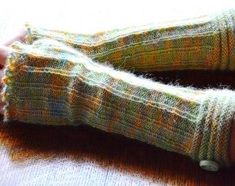 Isabel, PDF pattern for knitted long fingerless gloves