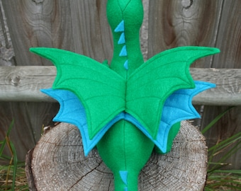 Double Dragon Wings, Add-On for Build-A-Dragon, Extra Set of Wings, Customized Dragon Plush