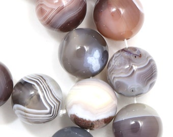 Botswana Agate Beads - 14mm Round