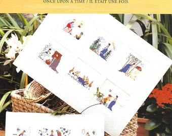 """Sheet embroidery cross stitch """"Once upon a time"""""""