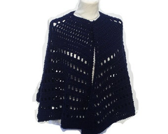 Lacy Crochet Cape Poncho  Shawl Pattern Digital PDF File Not a Finished Product