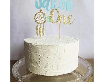 dream catcher cake topper, dream catcher birthday, dream catcher party, aztec birthday, aztec cake topper, tribal cake topper, dream big