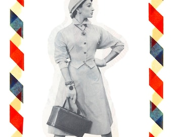 Vintage Sewing Pattern in any size including plus size 1949 PDF Instant Download Pattern no 10