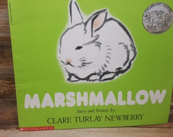 Marshmallow, 1993, Clare Turlay Newberry, vintage kids book, caldecott honor book