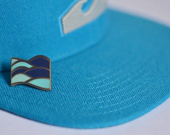 Waves Enamel Pin | Water Pin | Ocean Enamel Pin | Blue Enamel