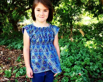 Boho Tunic Sewing Pattern for girls PDF 3m - 12 girls Instant Whimsy Couture