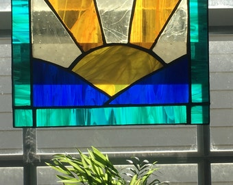 Stained Glass Panel - Sunrise