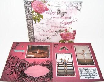 Dance Scrapbook Album - Premade Dance Scrapbook Album - Dance photo Album - premade dance photo album - Jazz album - ballet scrapbook