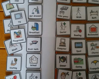 Small Daily Schedule Chart Visual Support Visual Aid for Asd/Adhd/Add/Learning Difficulty/Visual Learners/Pre-School & 40 Symbols
