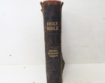 Vintage Bible 1952 revised standard edition- Tattered Old Bible