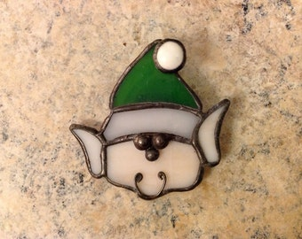 Stained Glass Elf  Pin