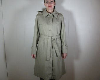 Vtg Khaki trench coat with removable lining size S M