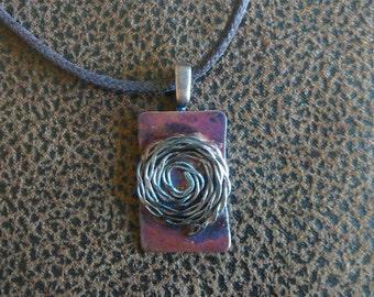 Copper square with spiral
