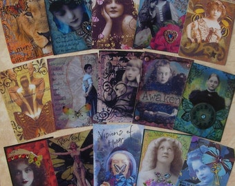 ATC ACEO One PRINT Customers Choice altered art therapy card collage recovery survivor healing expressions
