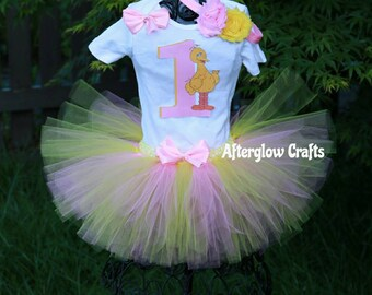 Big Bird Birthday Tutu Set, Seasame Street Birthday Tutu