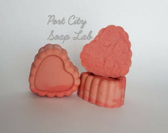 Love Spell Hearts -Cold Process Soap