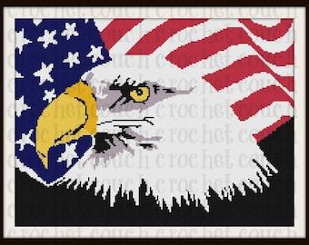 Patriotic Eagle TSS Graph, Word Chart, Patriotic Eagle Afghan