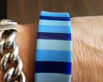 Blue Lucite Bangle Bracelet
