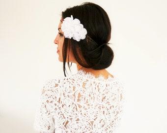 Bridal headband wedding flowers, country flowers wedding bridal hair accessory Bohemian