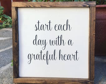 Start Each Day With a Grateful Heart - 12x12
