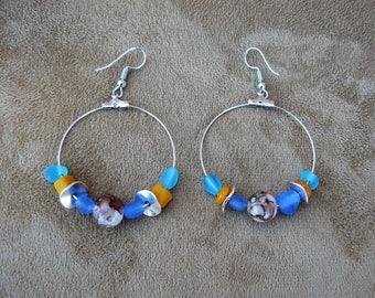 Creole earrings Caribbean #creationfrancaise #bouclesdoreille #cuir #caraibes #créoles #caraibeanearrings #earrings