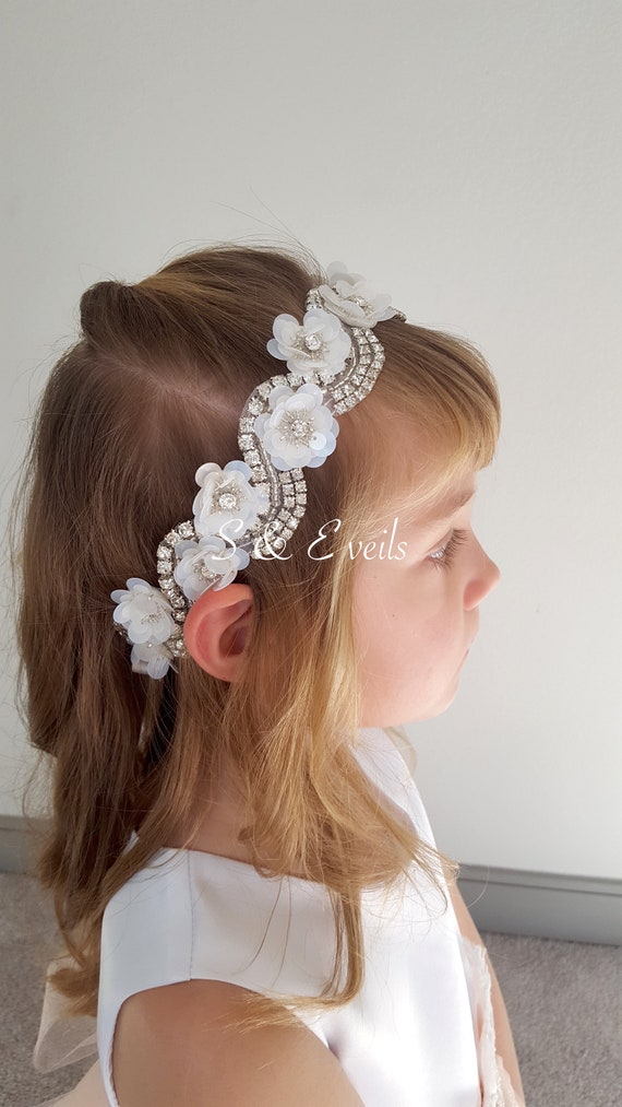 Headbands for girls | flower girls, wedding, accessories, rhinestones, pearls, dress belt