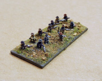 Miniature Civil War Soldiers, 1:285 Scale Soldiers, Lead Soldiers, 10mm Figures, Blue and Grey Miniatures, GHQ Miniatures, Infantry Men