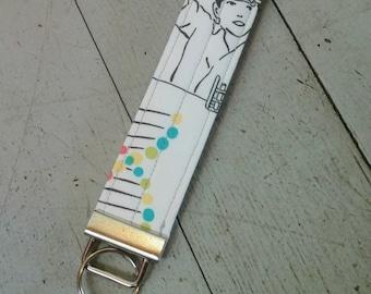 Science key chain, Fabric key fob, text book key chain, DNA key chain, Valentine gift