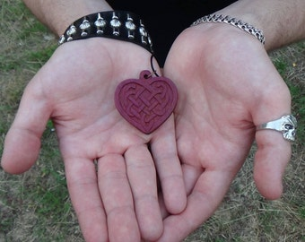 Celtic jewelry Witch pendant wiccan jewelry heart jewelry scandinavian celtic pendant celtic heart gift for girlfriend gift viking jewelry
